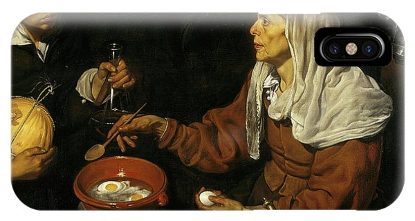 Protein iPhone Case - An Old Woman Cooking Eggs by Diego Velazquez