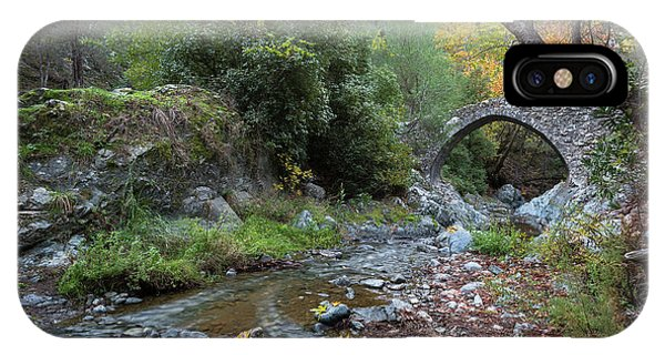 IPhone Case featuring the photograph Ancient Stone Bridge Of Elia, Cyprus by Michalakis Ppalis