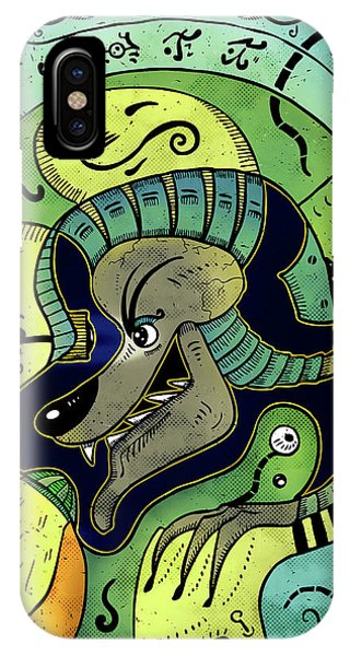 IPhone Case featuring the digital art Anubis by Sotuland Art