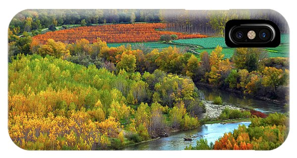 Autumn Colors On The Ebro River IPhone Case
