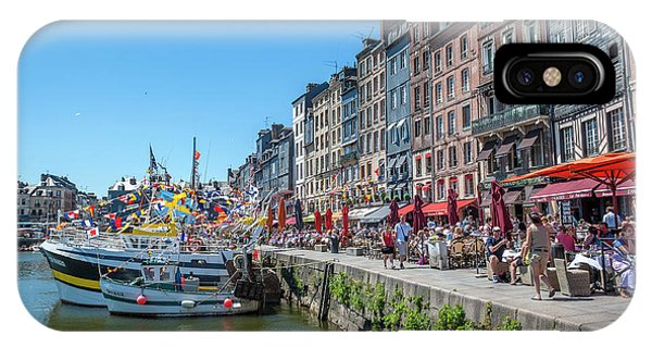 Avant Port, Honfleur, Normandy, France Phone Case by Lisa S. Engelbrecht