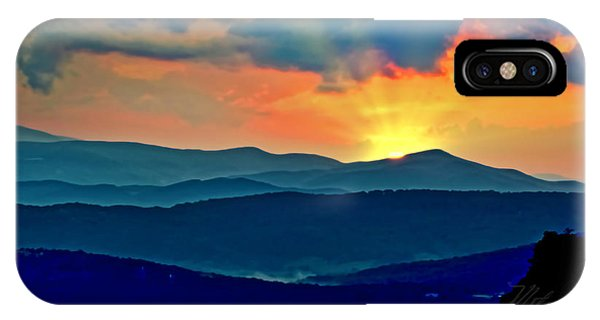 Blue Ridge Mountains Sunset IPhone Case