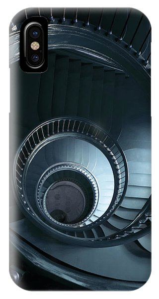 iPhone Case - Blue Spiral Staircase by Jaroslaw Blaminsky