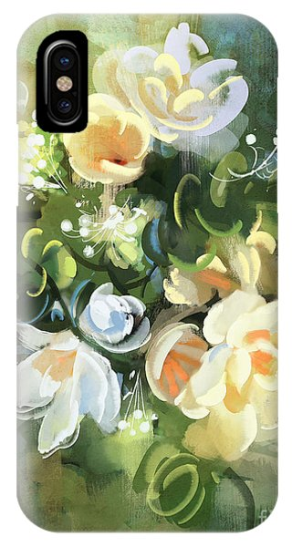 Bouquet Of Flowers,digital Phone Case by Tithi Luadthong