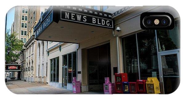 Broad Street Downtown Augusta Ga IPhone Case