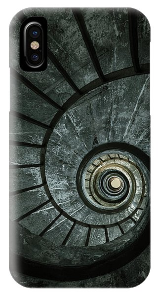 iPhone Case - Dark Spiral Staircase by Jaroslaw Blaminsky