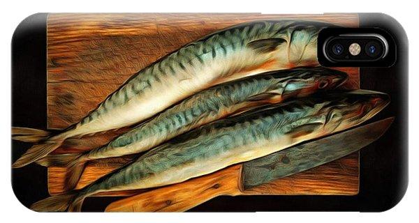 iPhone Case - Fresh Mackerels by Michal Boubin