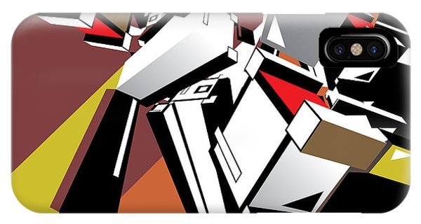 Futuristic iPhone Case - Geometric Design Abstract Background by Singpentinkhappy