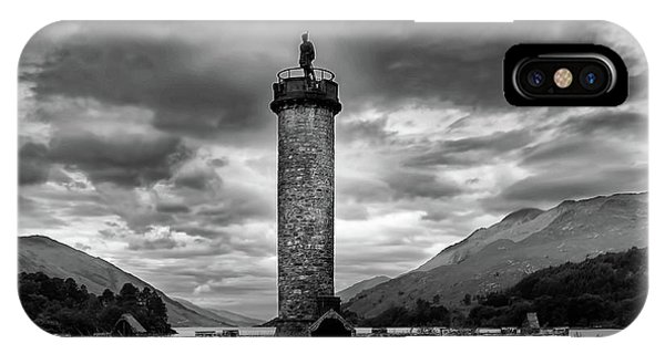 Monument iPhone Case - Glenfinnan Monument by Smart Aviation