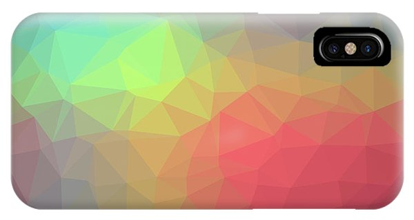 Gradient Background With Mosaic Shape Of Triangular And Square C IPhone Case
