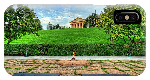 Department Of Defense iPhone Case - Jfk Grave And Arlington House by Craig Fildes
