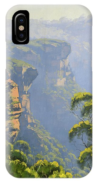 Sister iPhone Case - Katoomba Cliffs by Graham Gercken
