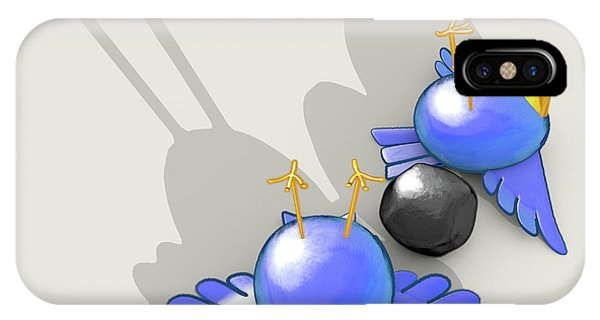 Achievement iPhone Case - Kill Two Bird With One Stone by Allan Swart