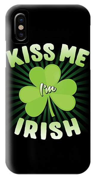St. Patricks Day iPhone Case - Kiss Me Im Irish by Flippin Sweet Gear