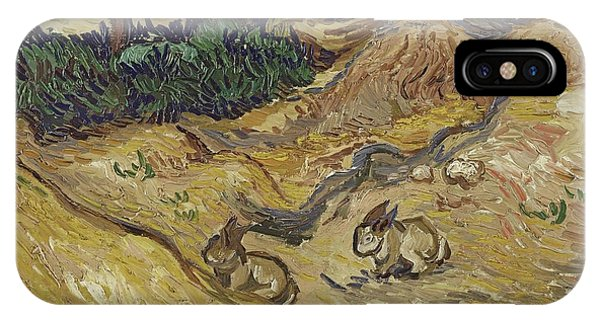 Van Gogh Museum iPhone Case - Landscape With Rabbits by Vincent van Gogh