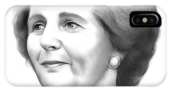 Leader iPhone Case - Margaret Thatcher by Greg Joens