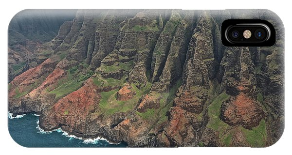 iPhone Case - Na Pali Coastline Aerial by Steven Lapkin