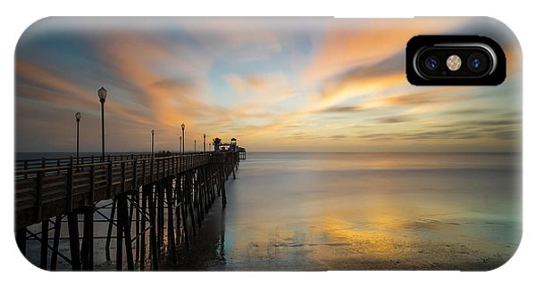 Pacific Ocean iPhone Case - Oceanside Pier Sunset by Larry Marshall