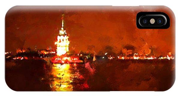 Modern iPhone Case - Oil Paint Istanbul View Bosphorus by Trentemoller