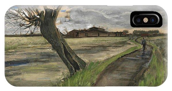 Van Gogh Museum iPhone Case - Pollard Willow by Vincent Van Gogh