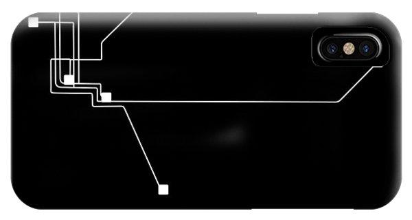 Sacramento iPhone X Case - Sacramento Black Subway Map by Naxart Studio