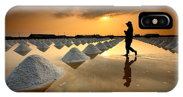 Hot iPhone Case - Salt Fields, Phetchaburi, Thailand by Isarescheewin