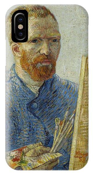 Van Gogh Museum iPhone Case - Self-portrait As A Painter by Vincent Van Gogh