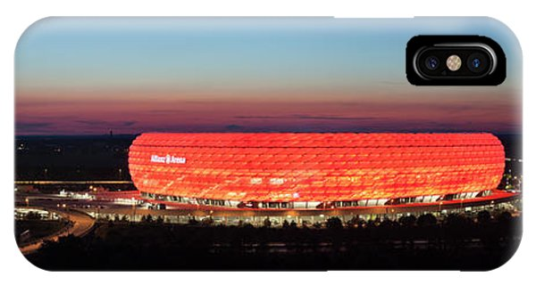 iPhone Case - Soccer Stadium Lit Up At Dusk, Allianz by Panoramic Images