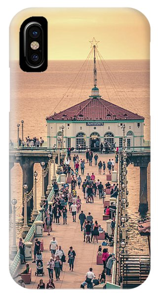 IPhone Case featuring the photograph Sunset On Huntington Beach California by Alex Grichenko