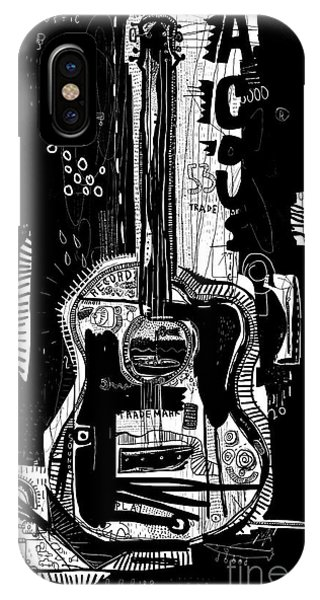 Vector Graphics iPhone Case - The Symbolic Image Of An Acoustic by Dmitriip