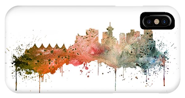 Vancouver City iPhone Case - Vancouver by Erzebet S