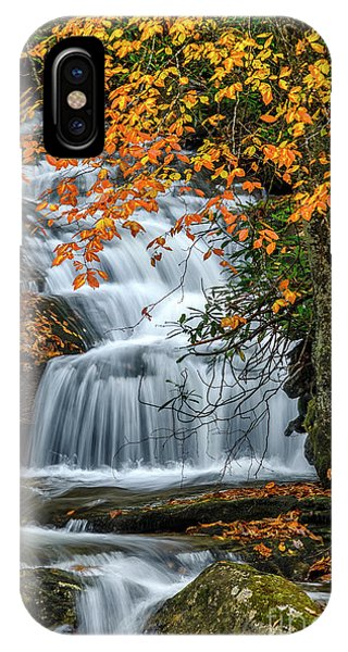 iPhone Case - Waterfall And Fall Color by Thomas R Fletcher