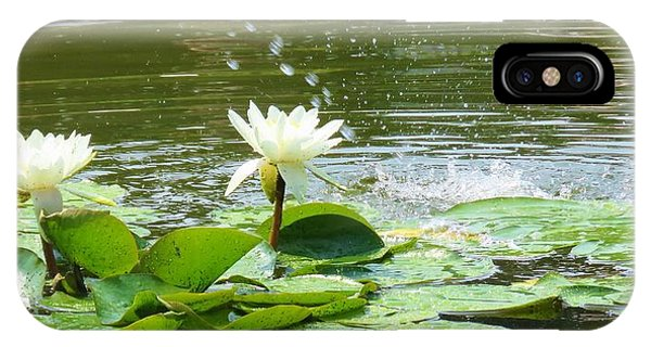 2 White Water Lilies IPhone Case