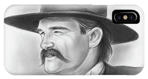 Ok iPhone Case - Wyatt Earp by Greg Joens