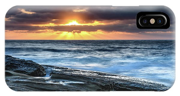 A Moody Sunrise Seascape IPhone Case