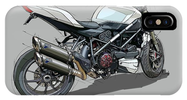 Arte iPhone Case - 2015 Ducati Streetfighter by Drawspots Illustrations