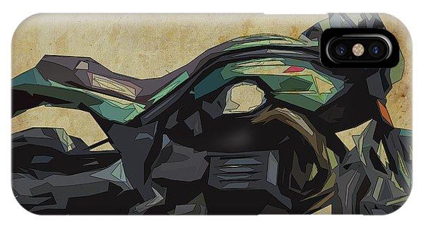 Arte iPhone Case - 2015 Moto Guzzi Griso, Original Abstract Art by Drawspots Illustrations