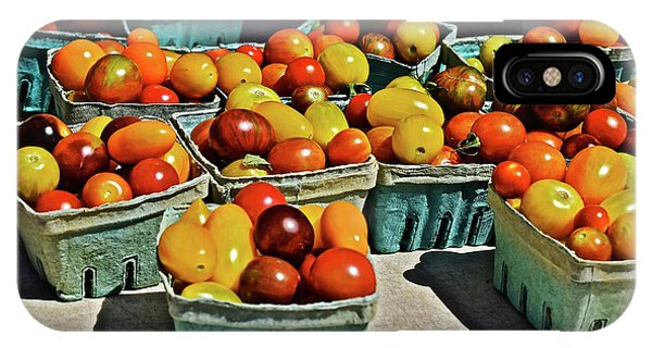 IPhone Case featuring the photograph 2017 Monona Farmers' Market Heirloom Cherry Tomatoes by Janis Nussbaum Senungetuk