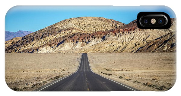 IPhone Case featuring the photograph Lonely Road In Death Valley National Park In California by Alex Grichenko