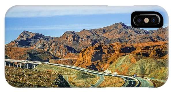 IPhone Case featuring the photograph Red Rock Canyon Landscape Near Las Vegas Nevada by Alex Grichenko