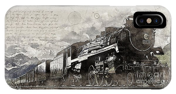 IPhone Case featuring the photograph 2816 At Banff Siding by Brad Allen Fine Art
