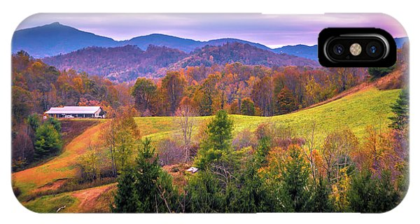 IPhone Case featuring the photograph Autumn Season And Sunset Over Boone North Carolina Landscapes by Alex Grichenko