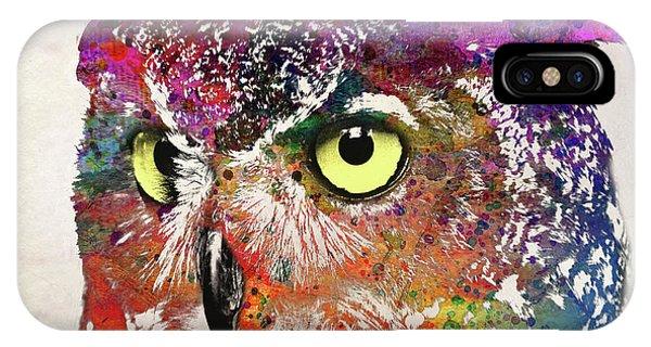 Vector iPhone Case - Owl Head by Mark Ashkenazi