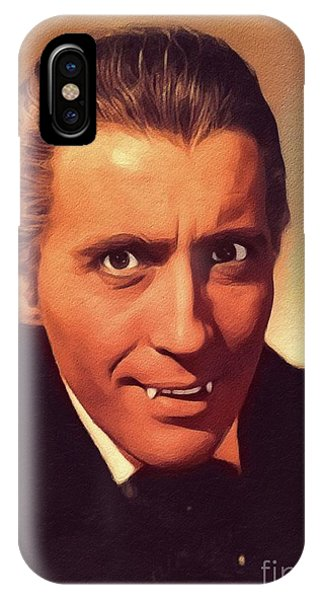 Dracula iPhone Case - Christopher Lee, Vintage Actor by John Springfield