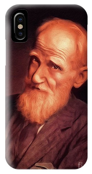 Prime Minister iPhone Case - George Bernard Shaw, Literary Legend by John Springfield