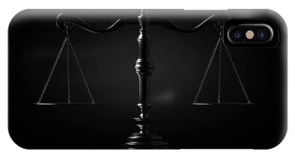 Fairness iPhone Case - Scales Of Justice Dramatic by Allan Swart