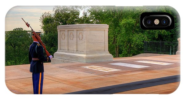 Department Of The Army iPhone Case - Tomb Of The Unknown Soldier by Craig Fildes