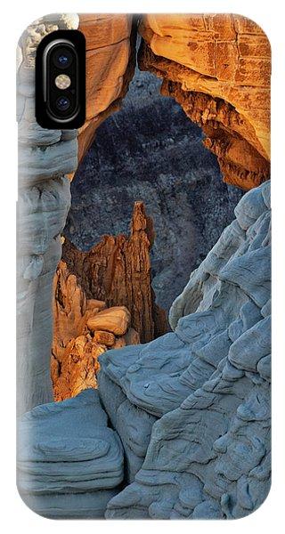 Unique Formations At Sunrise, Coal Phone Case by Adam Jones