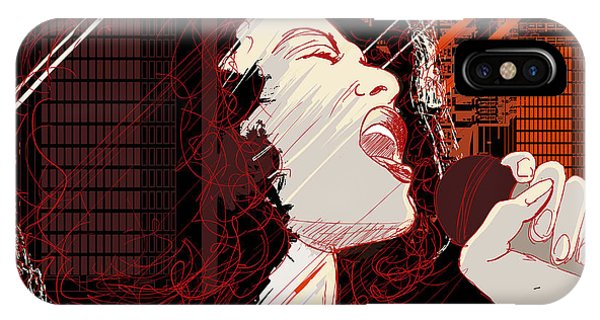 Singer iPhone Case - Vector Illustration Of An Afro American by Isaxar