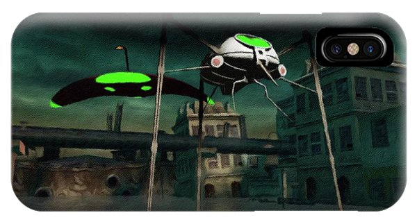 Well Being iPhone Case - War Of The Worlds by Raphael Terra